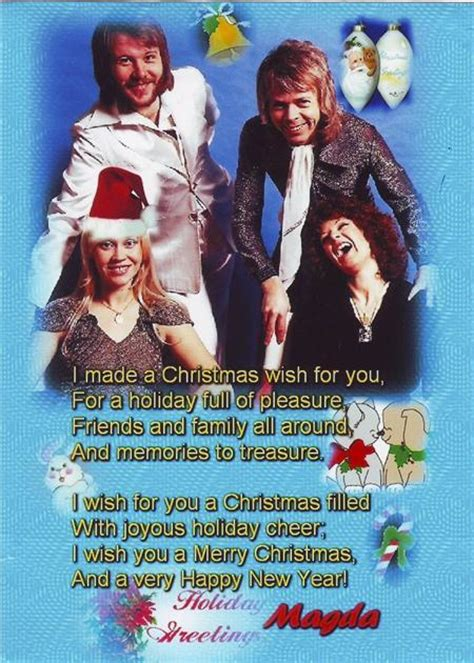 abba christmas card 2007