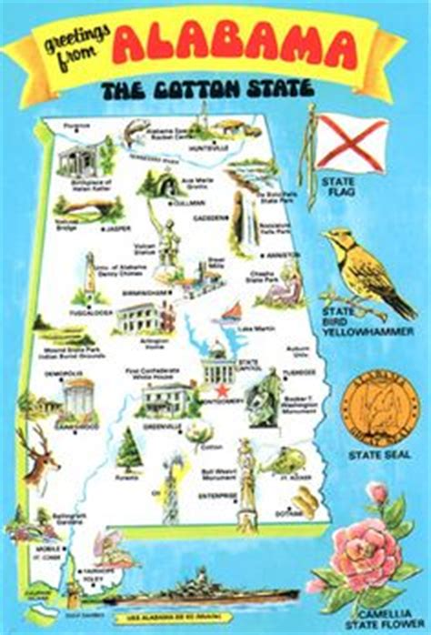 alabama print illustration map southern pride art