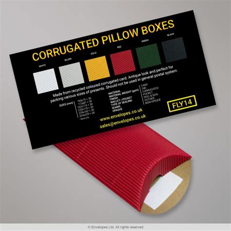 Corrugated Pillow Boxes by Corrugated Pillow Boxes Flysheet Fly14 Simply Envelopes