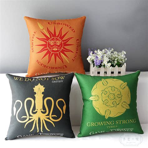 Of Thrones Pillow by Linen Cotton Cushion Pillowcase Decorative Pillow Sham