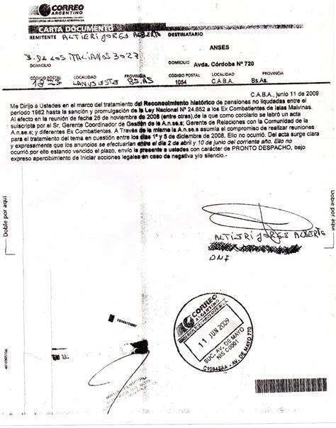anses tramite para hacer el tramite del salario para monotributistas reconocimiento hist 243 rico carta documento presentada en el