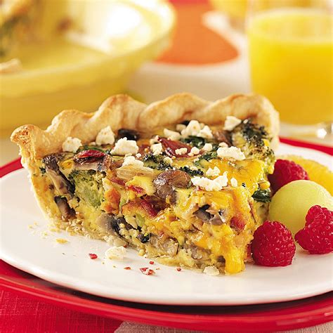 vegetables quiche recipe bacon vegetable quiche recipe taste of home