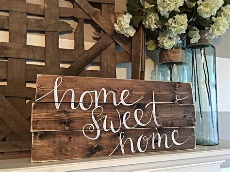 Signs And Plaques Home Decor by Home Decor Hand Painted Wood Sign Rustic Decor