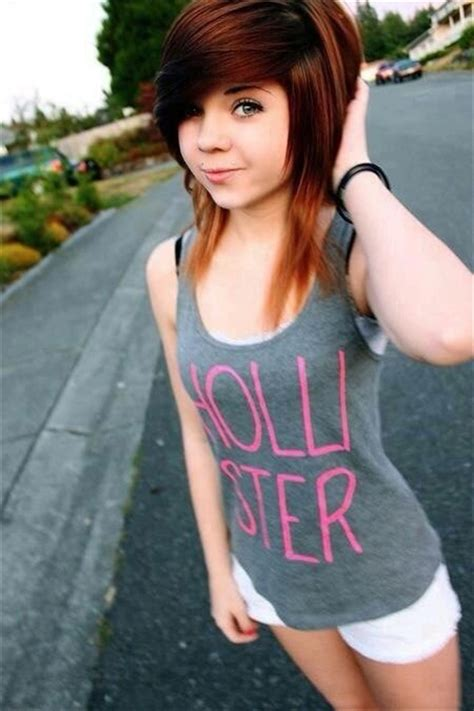 amature 14yo 13 cute emo hairstyles for girls being different is good
