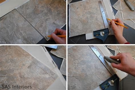 Installing Vinyl Tile Diy How To Install Groutable Vinyl Floor Tile Burger
