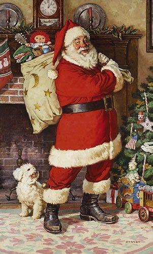 santa    alvin christmas scenes vintage christmas cards vintage christmas