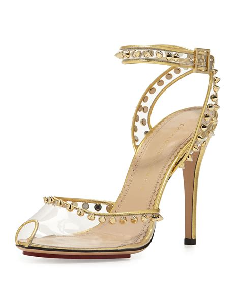 ankle wrap sandal olympia soho studded pvc ankle wrap sandal in