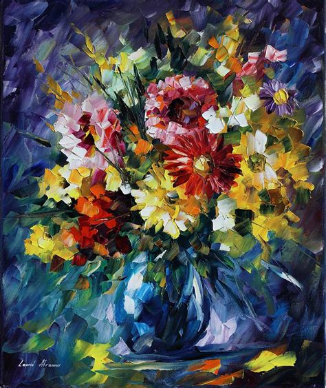 art 5 176 constituci 211 bouquet of love palette knife oil painting on canvas by