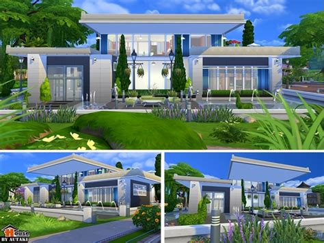 Home Design For Sims 4 by Sirintra Modern Design House By Autaki At Tsr 187 Sims 4 Updates
