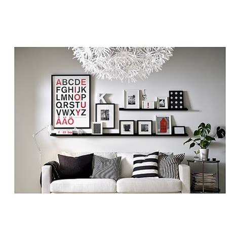 ikea ribba picture ledge gallery walls rule of