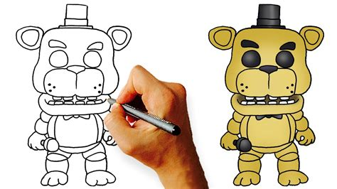 five nights at freddy s coloring book great coloring pages for and adults unofficial edition books how to draw chibi golden freddy fnaf step by step