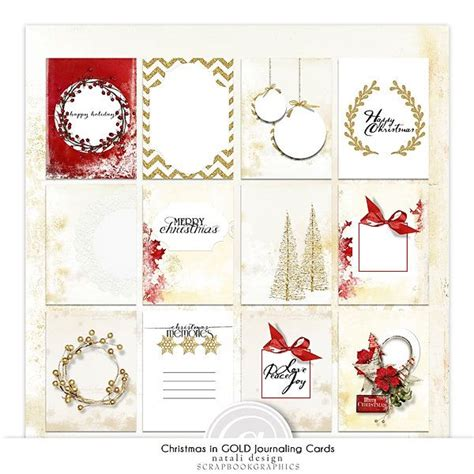 free printable christmas journaling cards christmas in gold journal cards freebie from natali design