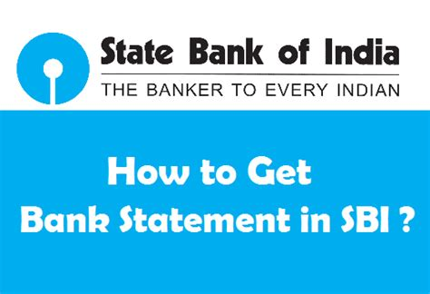 geting bank how to get bank statement in sbi by 3 easy methods