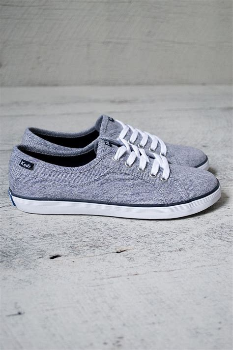 are keds comfortable adorable lace up canvas keds with heathered navy color 5