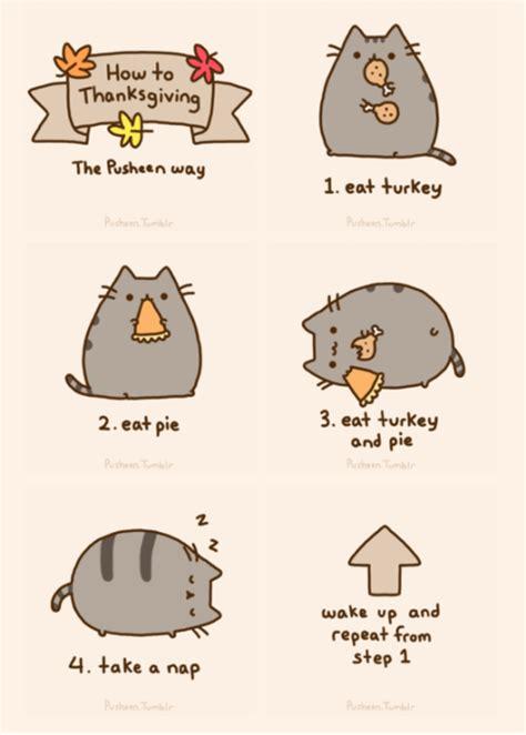 Pusheen Cat Meme - thanksgiving cat meme tux the dapper gent