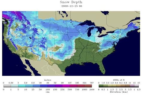 snow cover map usa nearly two thirds of the continental usa gets a white