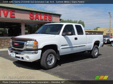 2005 gmc 2500hd extended cab summit white 2005 gmc 2500hd sle extended cab 4x4