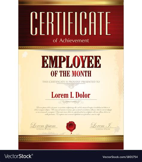 employee of the month certificate template with picture employee of the month free downloads certificate template