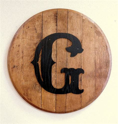 bourbon barrel head lid personalized