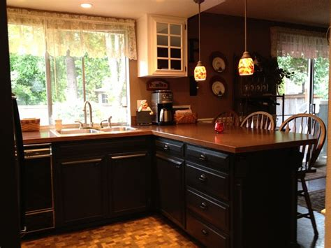 behr kitchen cabinet paint behr black suede kitchen cabinets did it pinterest