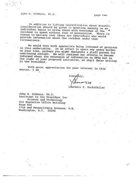 Parent Letter Of Attachment Index Of Rockefeller Documents 3 29 94 Jg Fax To Sw