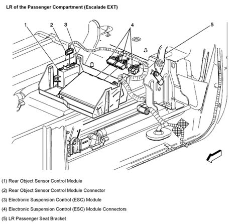auto body repair training 2004 cadillac escalade electronic toll collection where is the ride control module located on my 2003 cadillac escalade suv