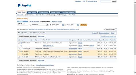 ebay community betreff paypal 220 bersicht der betr 228 ge mein konto