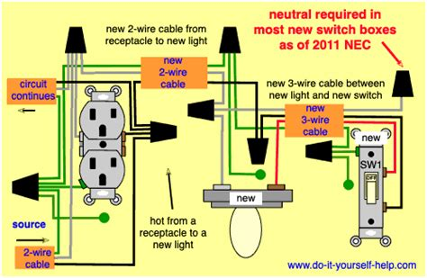 wiring diagrams to add a new light fixture do it