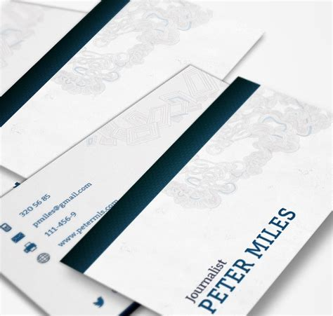 journalist business card template journalist business card