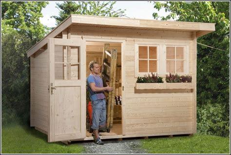 Gartenhaus Pultdach Selber Bauen