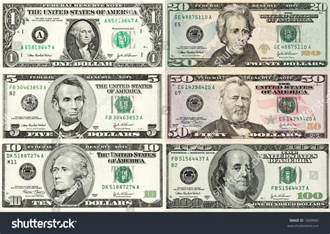 all us currency bills perfect reference designers every denomination us stock