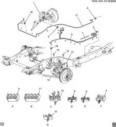 Brake Line Diagram Chevy Avalanche Chevrolet Suburban Brake Lines Front