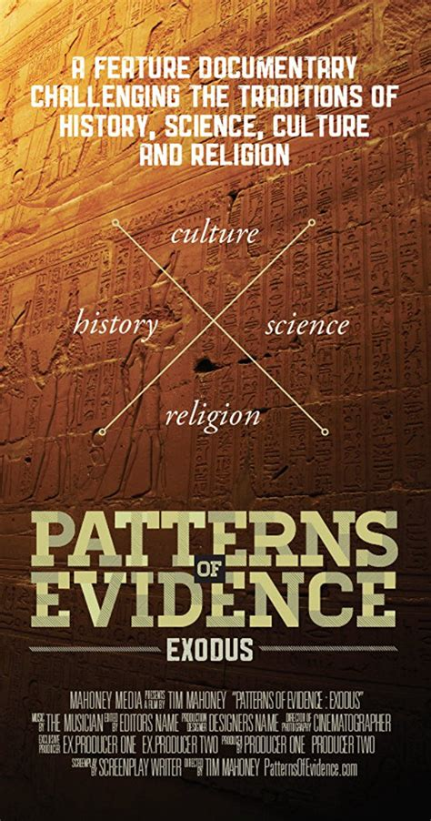 pattern of evidence theatres patterns of evidence the exodus 2014 imdb
