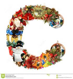 letter c for christmas decoration stock illustration