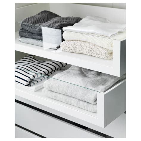 ikea wardrobe drawer komplement drawer with glass front white 75x58 cm ikea