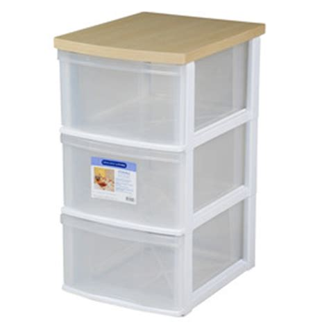 shop gracious living 3 drawer resin storage cart with