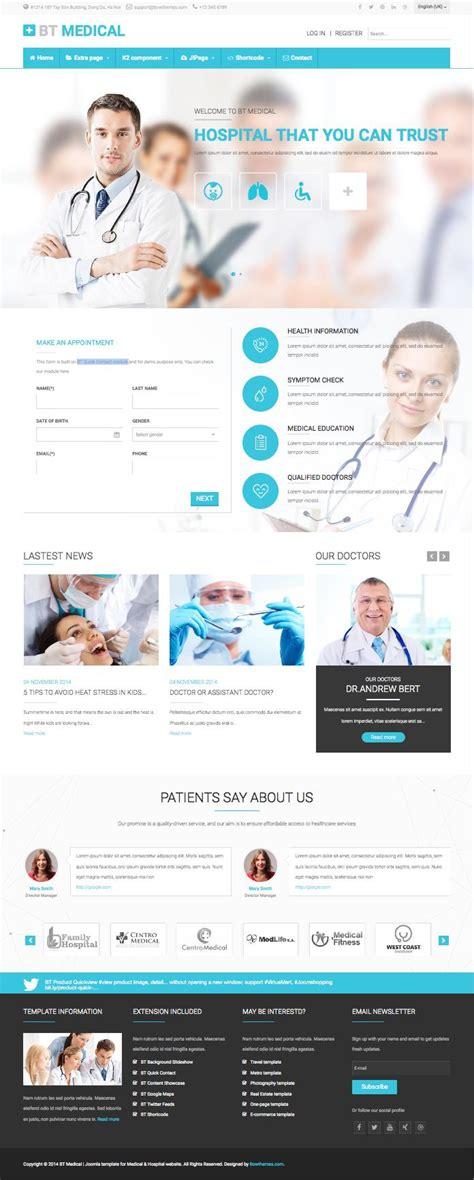 bt medical joomla template for hospital doctors