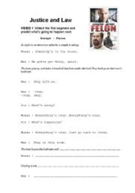 printable criminal justice worksheets english teaching worksheets law and justice