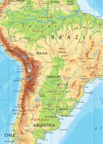 south america map south america detailed physical map by cartarium