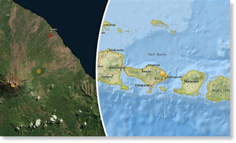 earthquake agung shallow 5 0 magnitude earthquake recorded off bali near