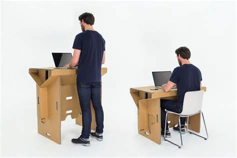 desk for standing and sitting refold cardboard standing desk changes the way you work
