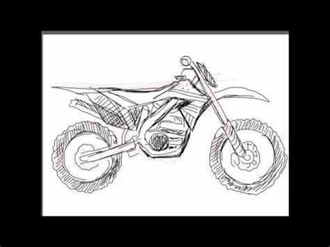 how to draw a motocross bike how to draw a dirt bike youtube