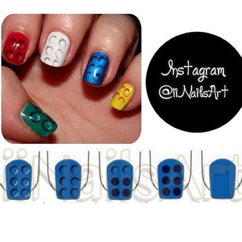 lego nails tutorial 1000 images about nails entertainment on pinterest