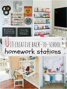 How To Organize Laundry Closet - top ten creative homework station ideas remodelaholic