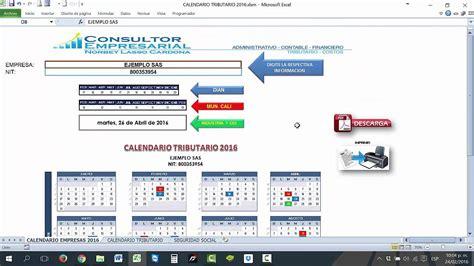 calendario tributario dian 2 016 calendario tributario 2016 youtube