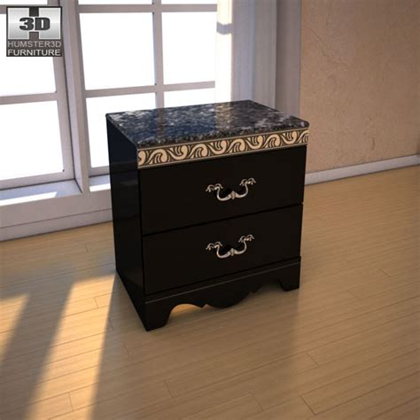 buy ashley furniture constellations poster bedroom set ashley constellations nightstand 3d model hum3d