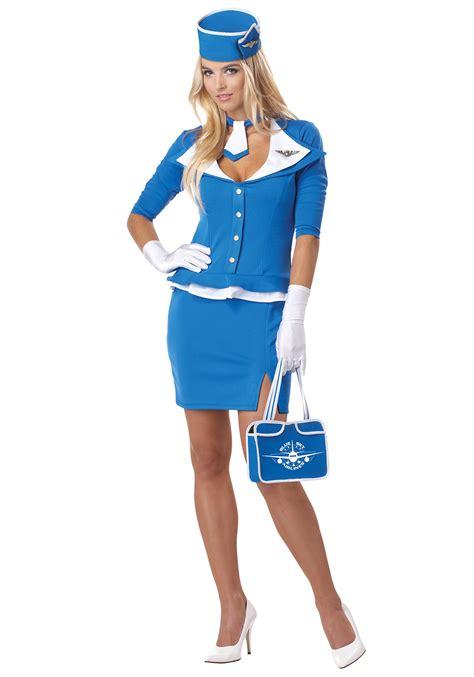 Flight Attendant Costume retro flight attendant costume womens pan am costumes