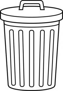 White Bathroom Trash Can Garbage Can Line Art Free Clip Art