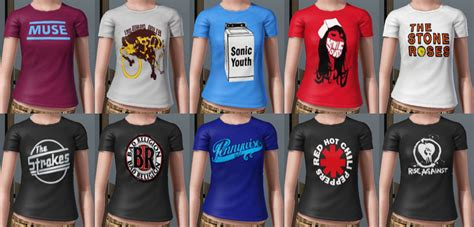 Blur Band Shirt mod the sims rock band t shirts for ya males and