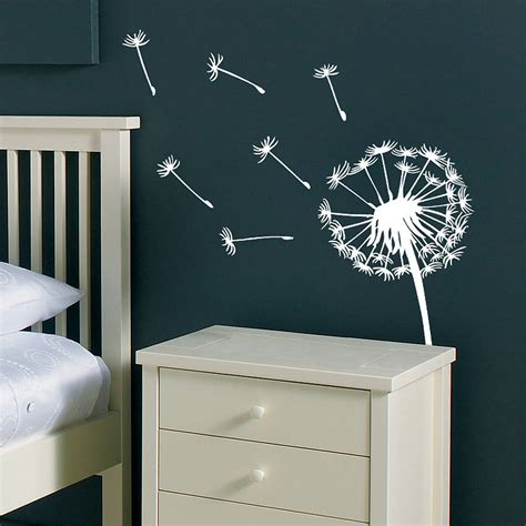 wall vinyl dandelion wall sticker by oakdene designs